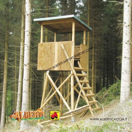 Cabina aperta grande da caccia 127x167x110 - senza tetto -