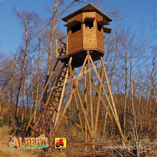 Cabina da caccia Panoramica con finestre regolabili 145 x 145 cm - senza base -