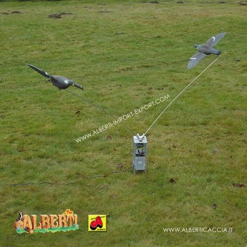 Richiamo girevole per piccioni, a batteria - AD ESAURIMENTO