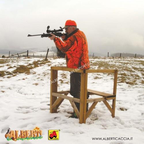 Postazione di caccia con panca premontata
