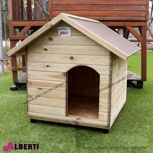Casetta per cani in legno 80x100xh105 - Minibar in legno per casa ...