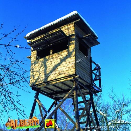 Cabina caccia Dormitorio finestre fisse 125x215x200 cm